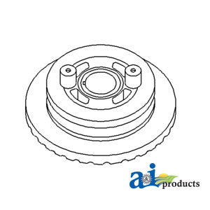 search all ag parts 310D John Deere Yellow Tractor pulley crankshaft d ener singular groove w o ac