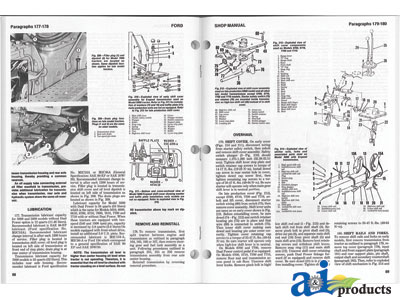 search all ag parts ford new holland shop manual