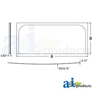 A-4651654: John Deere Front Lower Windshield Glass