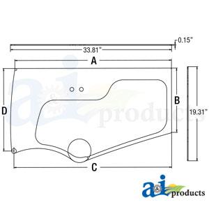 A-4651658: John Deere Lower Door Glass