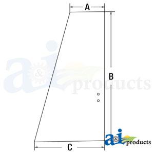 A-4651660: John Deere Upper Door Rear Glass