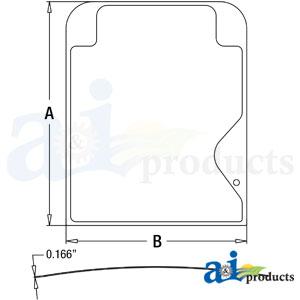 A-4664382: John Deere Upper Windshield Glass