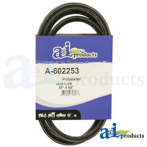 A-602253 Pump Drive Belt. Fits Hustler Zero-Turn Mowers