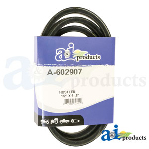 A-602907 Pump Drive Belt. Fits Hustler Zero-Turn Mowers