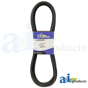 A-603422 Deck Belt. Fits Hustler Zero-Turn Mowers