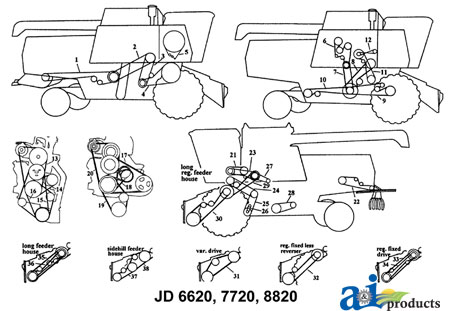 John Deere  bine Parts Diagram on john deere l120 pto switch wiring diagram