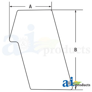 A-6691001: Rear Stationary Glass for Bobcat Skidsteer Loaders