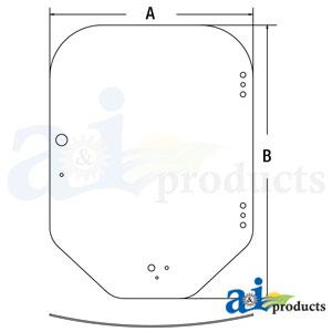 A-7120401: Bobcat Windshield Glass
