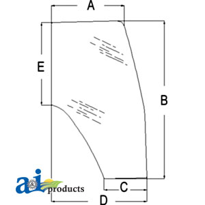 A-86002304: Glass, Door (RH)