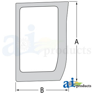 87566891 Lower Front Glass