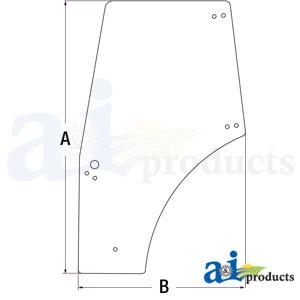 A-87620234 Cab Door Glass