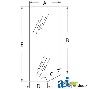 A-9827540 Glass, Lower Front Windshield (RH)