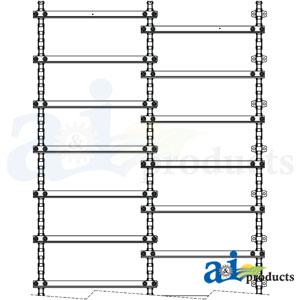 A-AH207777-557 Wide Spaced Feederhouse Chain for John Deere Combines