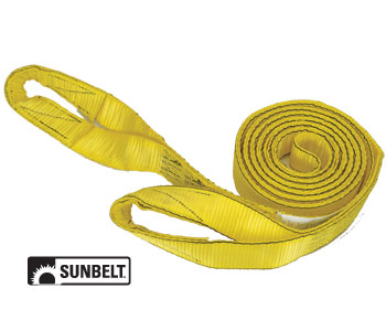 "PRO Grip Tow Strap 20' x 2"" with Loops Nylon Item A-B1151520"