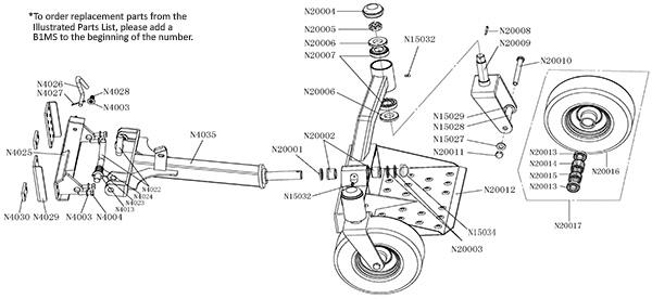 Bradley Mower Two Wheel Mower Sulky with Swivel Lift Latch B1MS35, SW2006N,  42-049