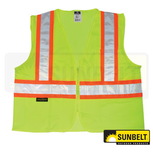 B1SV222ZGML: Two Tone Safety Vest
