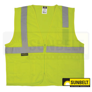 B1SV2ZGML: Zipper Safety Vest