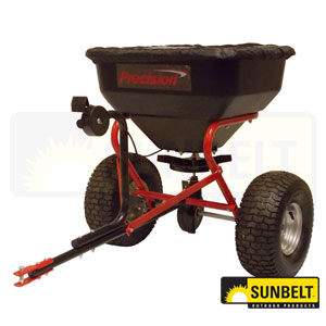 100 LB Pro Tow Behind Broadcast Spreader with Direct Rod Control