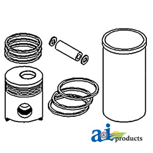 A-3800319 Piston Liner Kit. Fits Ford / New Holland Tractors TG255, TJ275