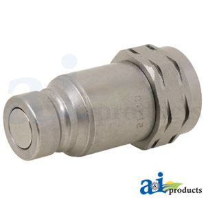 A-FEM-372-6FP Male Flat Face Coupler. Fits Kubota Skid Steer Loaders