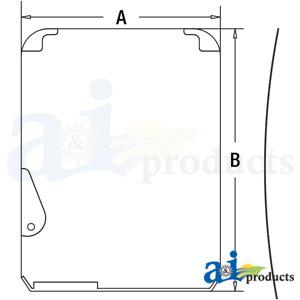 A-FYA00001495: John Deere Upper Front Windshield Glass