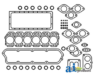 A-3939284 Valve Cover Gasket. Fits Case-IH MX240, MX255, MX270; Ford Tractor: TG255, TJ275