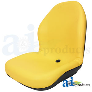 A-LGT125YL Yellow Vinyl Seat for John Deere