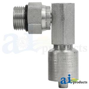 A-MBX90-06-10-W:(HW-MBX90) Male O-Ring Boss - Swivel - 90° Elbow