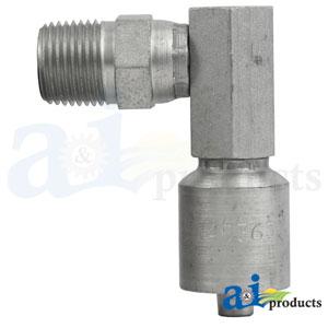 A-MPX90-06-08-W: (HW-MPX90) Male NPTF Pipe - Swivel - 90° Elbow