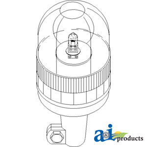 A82018390 Rotating Beacon Amber Pipe Type Allpartsstore. Wiring. Case Ih Cx70 Wiring Schematic At Scoala.co